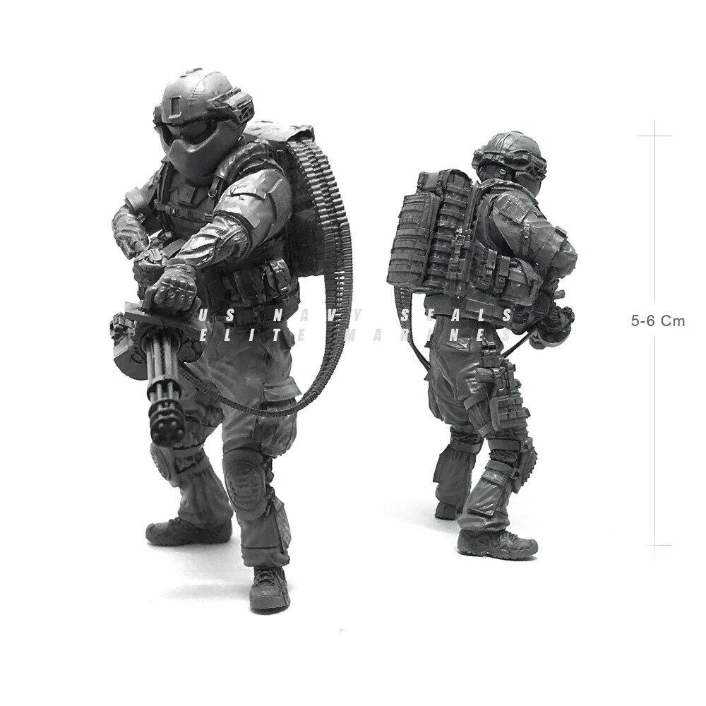 1/35 армии США современный Печать Commando уничтожить Magic Солдат Смола Модель Рисунок подарки комплект для мальчиков
