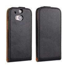 Quente para htc one m8 casos de telefone celular de luxo de couro genuíno tampa do caso da aleta vertical para o htc one m8 shell de alta qualidade sacos