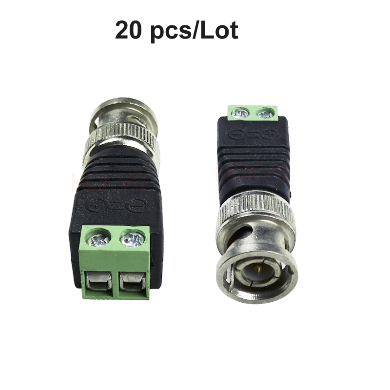 20X Cat5 UTP Cable to Coaxial BNC Male Connector Adapter to CCTV Security Camera