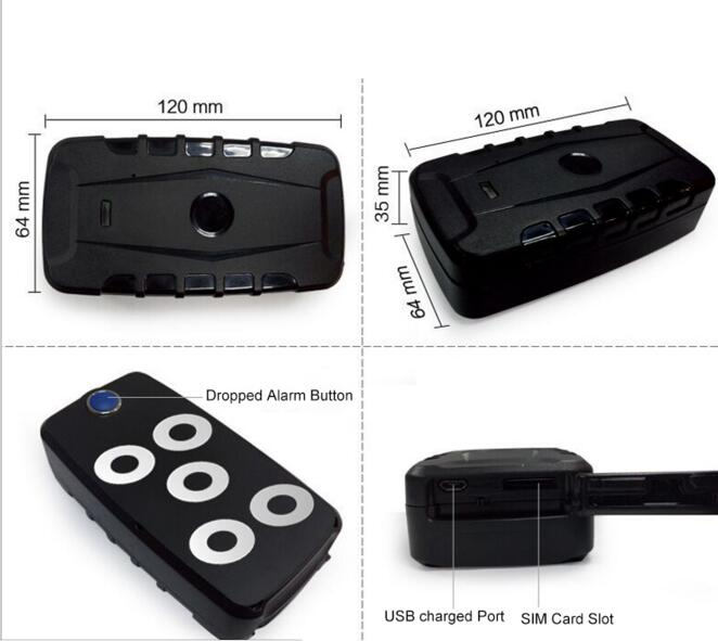 waterproof gps tracking device strong magnet vehicle car. Black Bedroom Furniture Sets. Home Design Ideas