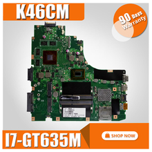 K46CM Motherboard I7 GT635M REV2 0 For ASUS K46C K46CB S46C A46C A46CM Laptop motherboard K46CM