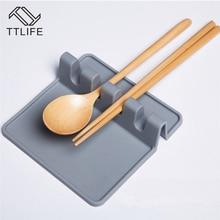 TTLIFE 1pcs Soup Spoon Rest Holder Kitchen Organizer Spatula Racks Cooking Gadget Utensil