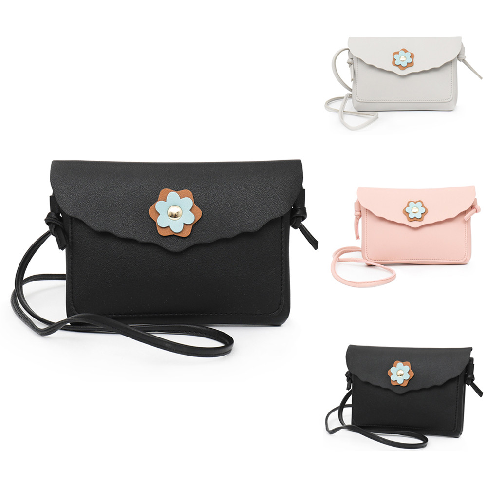 2018 Hot Sale bags Fashion Womens Leather Flower Decoration Crossbody Bag High Quality Hasp Messenger Bag bolsos sac a main S