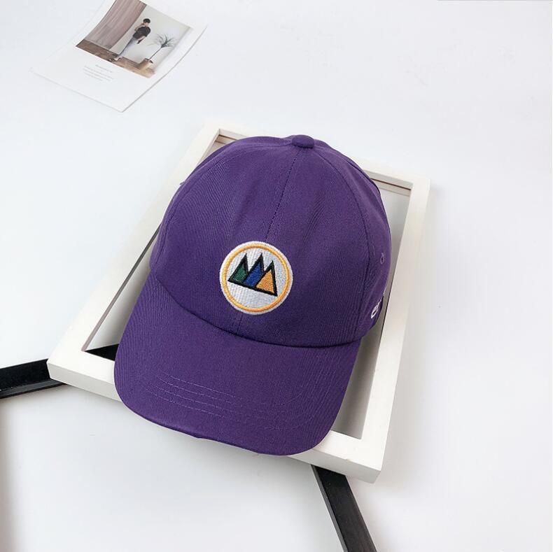 100% Quality 2018 New Purple Multi Color Geometric Triangle Dad Cap Men Women Cotton Baseball Cap Bone Snapback Trucker Hat All Match