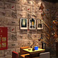 Rollo de papel de pared para sala de estar para sala de café