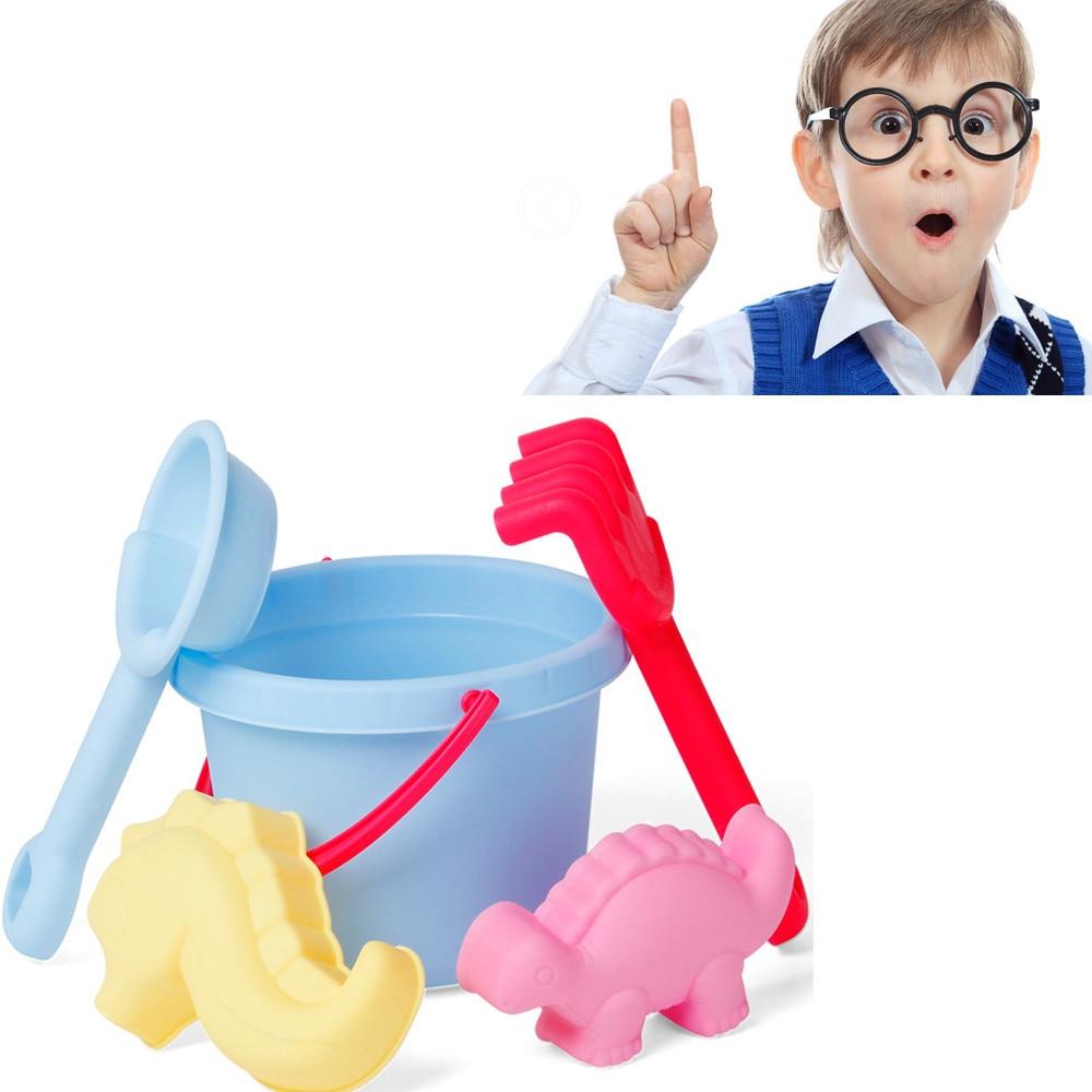 Snow Shovel For Kids 5PC Random Cartoon Tiny Beach Sand Tools Toys Bucket Set Children Outdoor Toys Watertafel Sandcastle