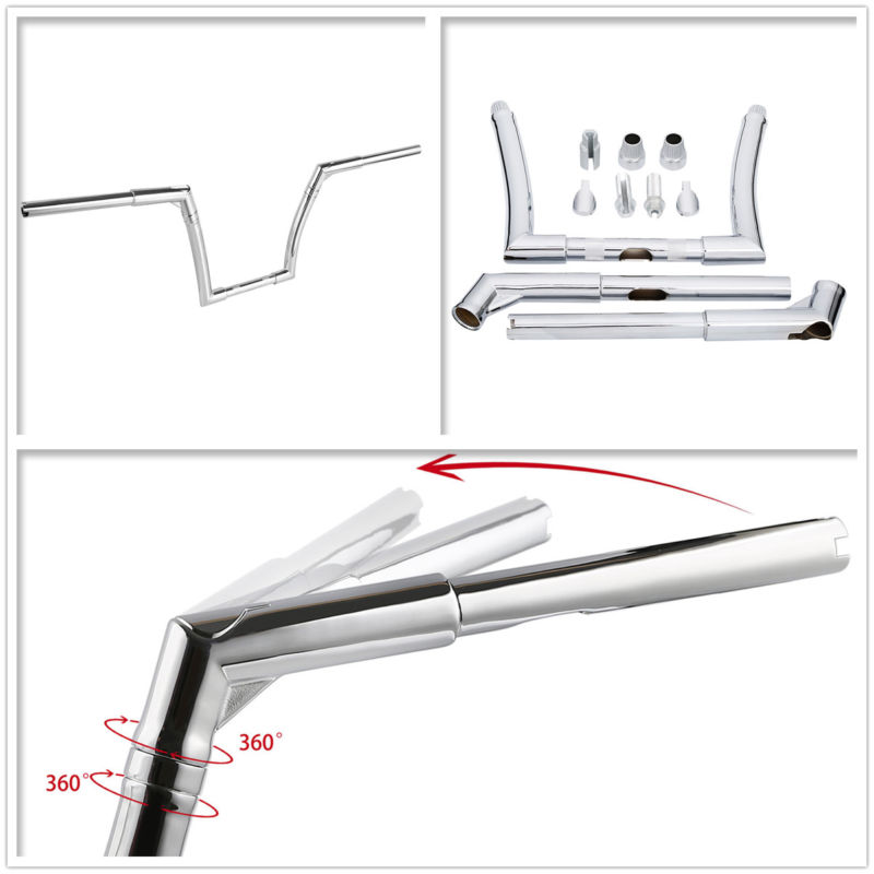 Chrome 12 Rise APE Handlebar For Harley Heritage Softail Standard Dyna Fat Street Bob Sportster XL1200 883 Forty-Eight motorcycle new 1 75 drag pipes exhaust for harley softail touring dyna sportster 1984 2015 black chrome xl 883 xl1200 fat boy