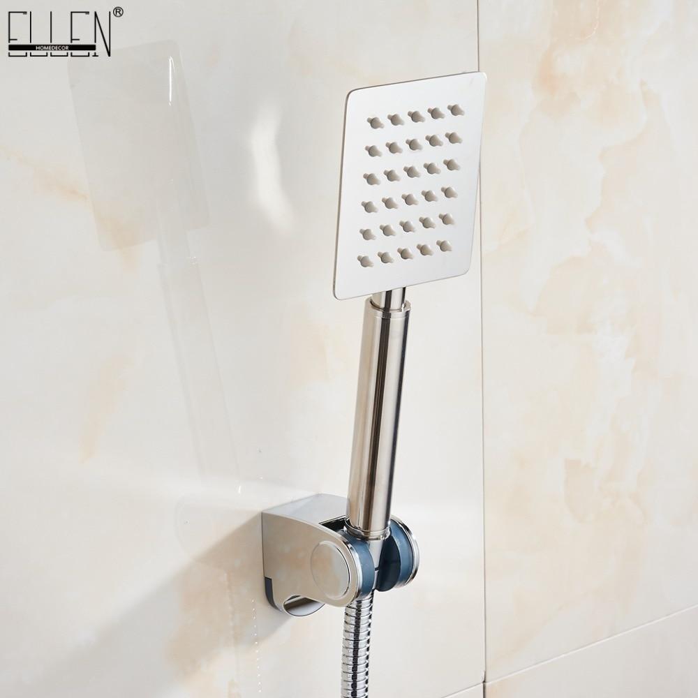 Stainless Steel Hand Shower Set Polished Shower Hose Shower+ Mounting Bracket+ Hand Shower ELS81Stainless Steel Hand Shower Set Polished Shower Hose Shower+ Mounting Bracket+ Hand Shower ELS81