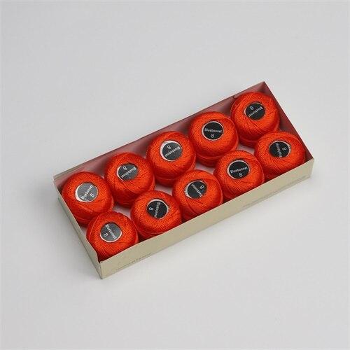 Размер 8, жемчужная хлопковая нить для вышивки крестиком, размер 43(5 грамм) на шарик, Двойной Мерсеризованный длинный штапельный хлопок, 10 шт./цвет - Цвет: 247