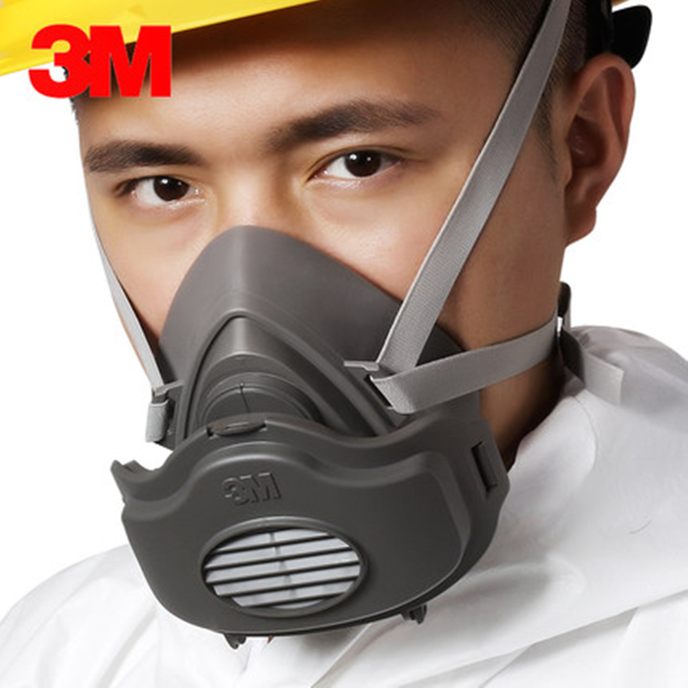 3M 3200+100pcs Filters Half Face Dust Gas Mask Respirator Safety Protective Face Mask Anti Dust Anti Organic Vapors PM2.5 Fog anti dust respirator safety face mask white 10 pcs