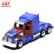 The coolest 1 32 simulation vehicle model colorful big truck head casting alloy model car boy