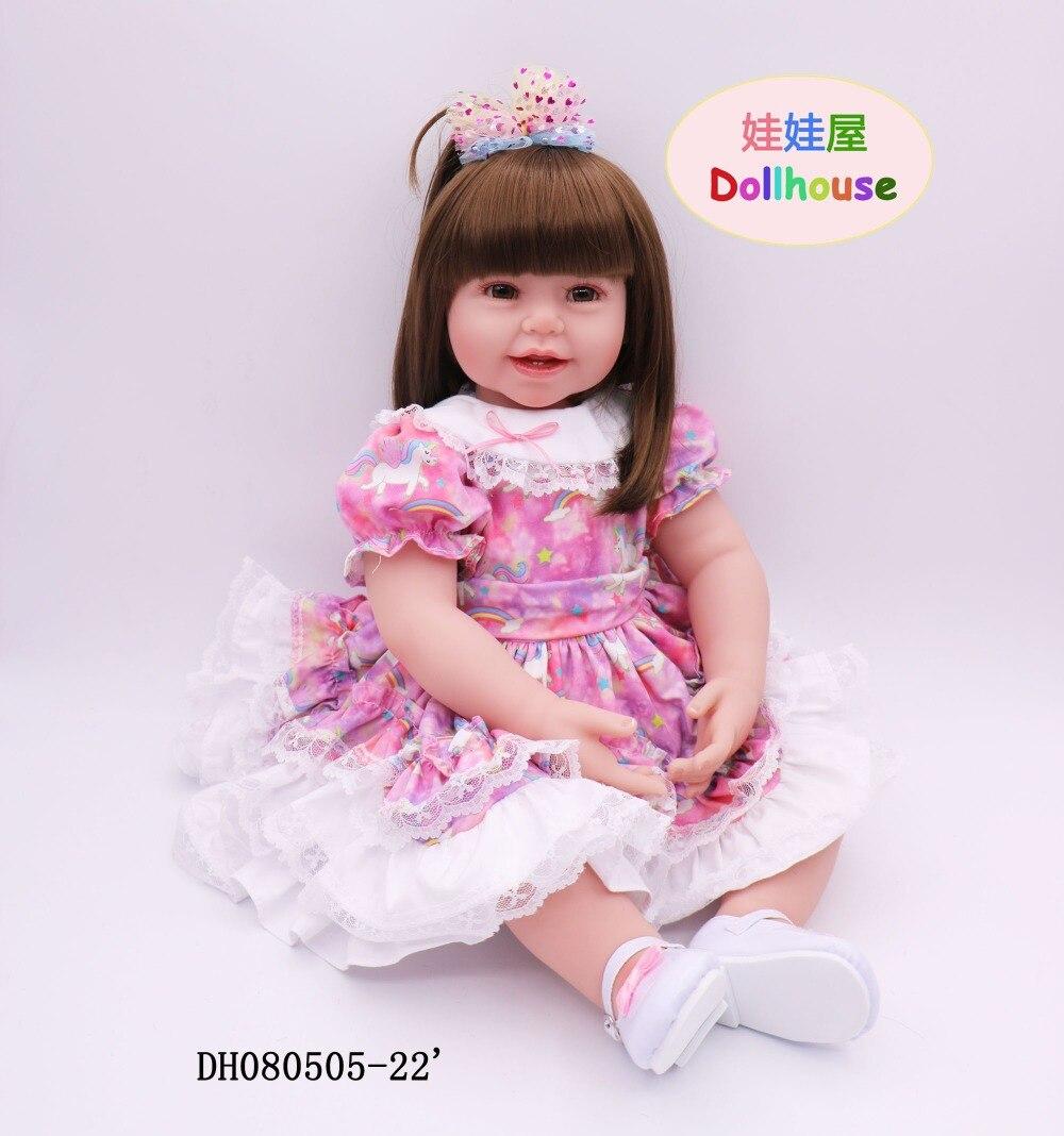 61 cm Reborn bébé poupée Bebe Silicone reborn realista enfant Playmate cadeau pour reborn bébés nouvel an jouets doux corps reborn bébés