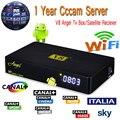 Ángel V8 Receptor de Satélite HD DVB-S2 DVB-T2 Con Cccam 3 Clinales para 1 Año Amlogic S805 Android 4.4 Tv Box Europa Cccc servidor