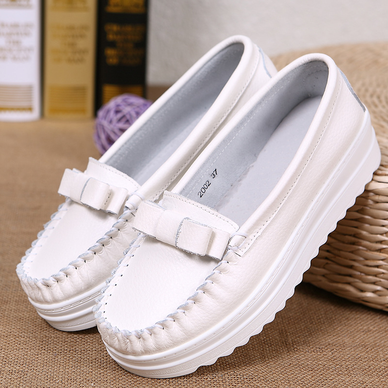 Creepers Women Shoes Flat Platform Shoes Women Casual White Shoes Round Toe Creepers Slip on Shoes for Women Loafers creepers women shoes black white striped shoes female casual flat platform shoes round toe thick soled ladies shoes