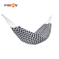 180 75cm Black And White Squares 2 People Parachute Hammock Camping Survival Garden Hunting Leisure Travel