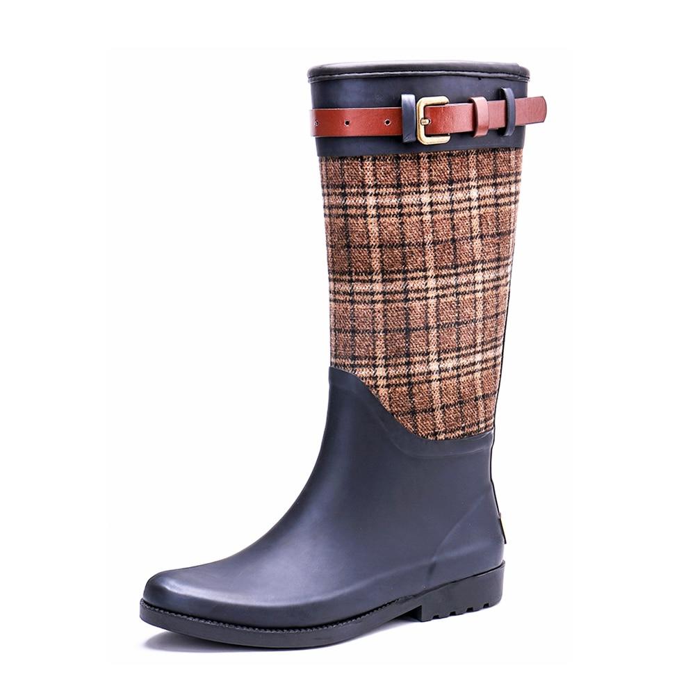 TONGPU New Fashion Design Womens Winter Rubber Rain Boots 242-543