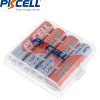4PCS PKCELL AA 2500mWh 1.6V Ni-Zn AA Rechargeable Batteries 2A NIZN battery And 1PCS AA/AAA Battery Hold Case Box For Toy