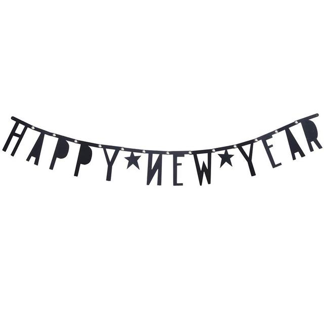 new years eve party bunting banner with 2 stars party decorations happy new year banner bunting