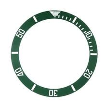 Accesorios de repuesto para relojes, esfera de reloj, inserto de bisel cerámico para Submariner de 40mm, automático, para hombre, negro/azul/verde, 38mm