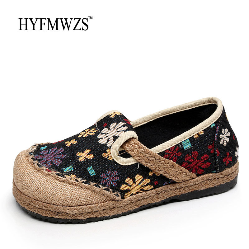 HYFMWZS Handmade Chinese Style Flat Shoes Women High Quality Fashion 2017 Mother Shoes Woman ...
