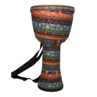 Orff World 8 Inch Djembe Percussion Musical Instrument Classic African Style Hand Drum For Children Interest