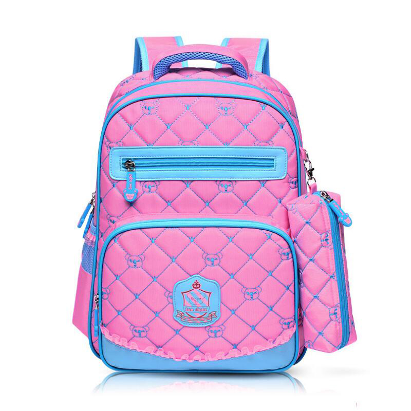 New 2016 Nylon Backpack Orthopedic School bags For Boys/girl Backpack Child Kids School bag