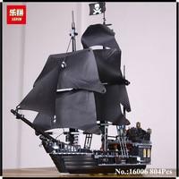 IN STOCK LEPIN 16006 804Pcs Pirates Of The Caribbean The Black Pearl Ship Model Building Kit