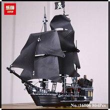 В наличии Лепин 16006 804 шт. Пираты Карибского моря черный жемчуг модель корабля строительство комплект Блоки brickstoy Совместимость 4184