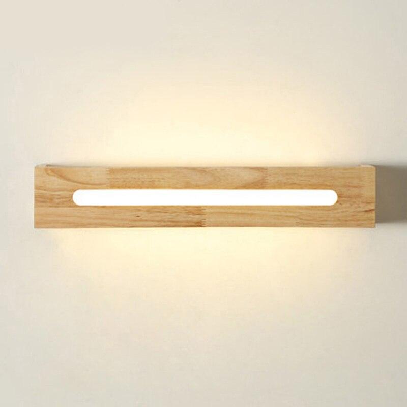 Sinfull простой скандинавском стиле проход вход Деревянные Настенные светильники прикроватной тумбочке зеркало светодиодные лампы сырой дре…