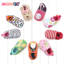 Baby Kawaii Shoes Boys Girls Cotton Non-Slip Sole First Walkers Kids Lovely Cute Cartoon Newborn Infants Toddlers