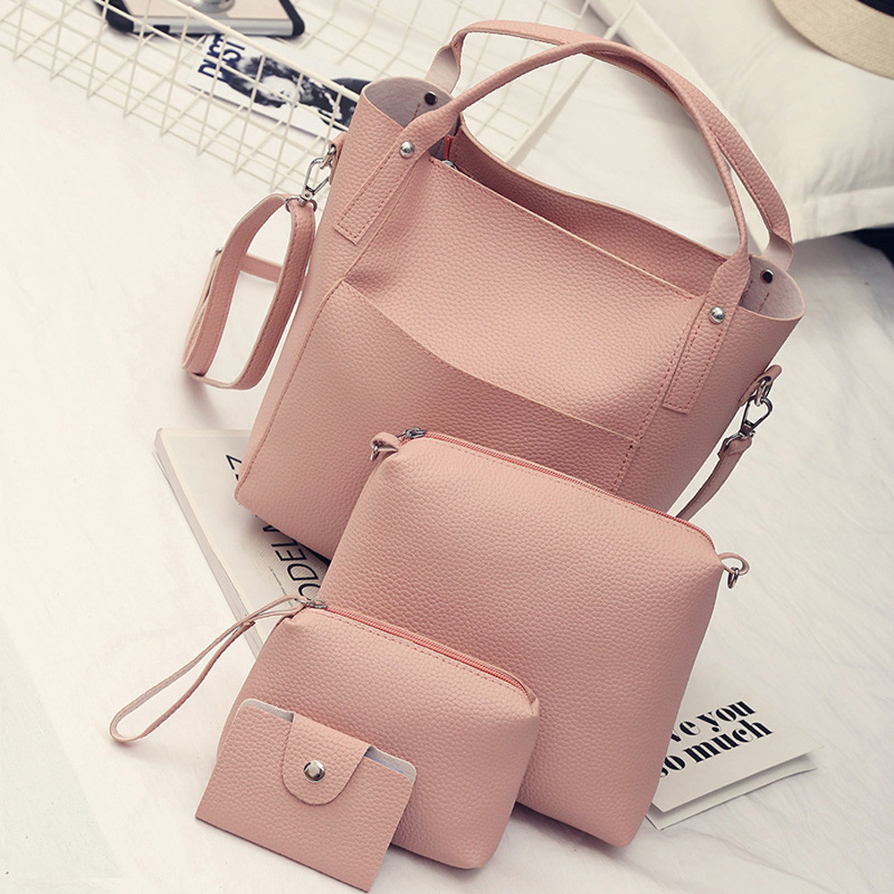 Women Bags Four Set Handbag Shoulder 4 Pieces Tote Crossbody Wallet Torebka Damska Sac A Main Femme De Marque Soldes Woman Bag