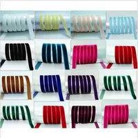 Wholesale! NEW DIY200 yards 3/8 10mm Soft Comfortable velvet ribbon many choose colours