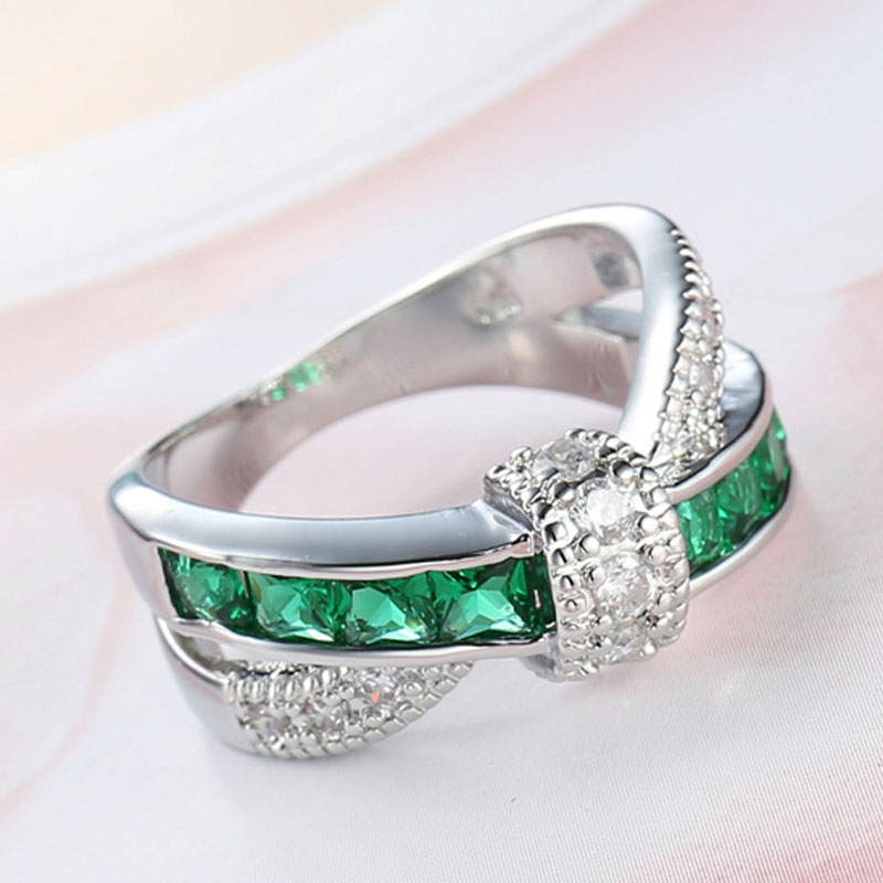 0cdb21c0d3ac0 Sue Phil Fashion Finger Ring For Women Green Zircon Women Charming  Engagement Jewelry plated Rings Drop Shipping-in Wedding Bands from Jewelry  & ...