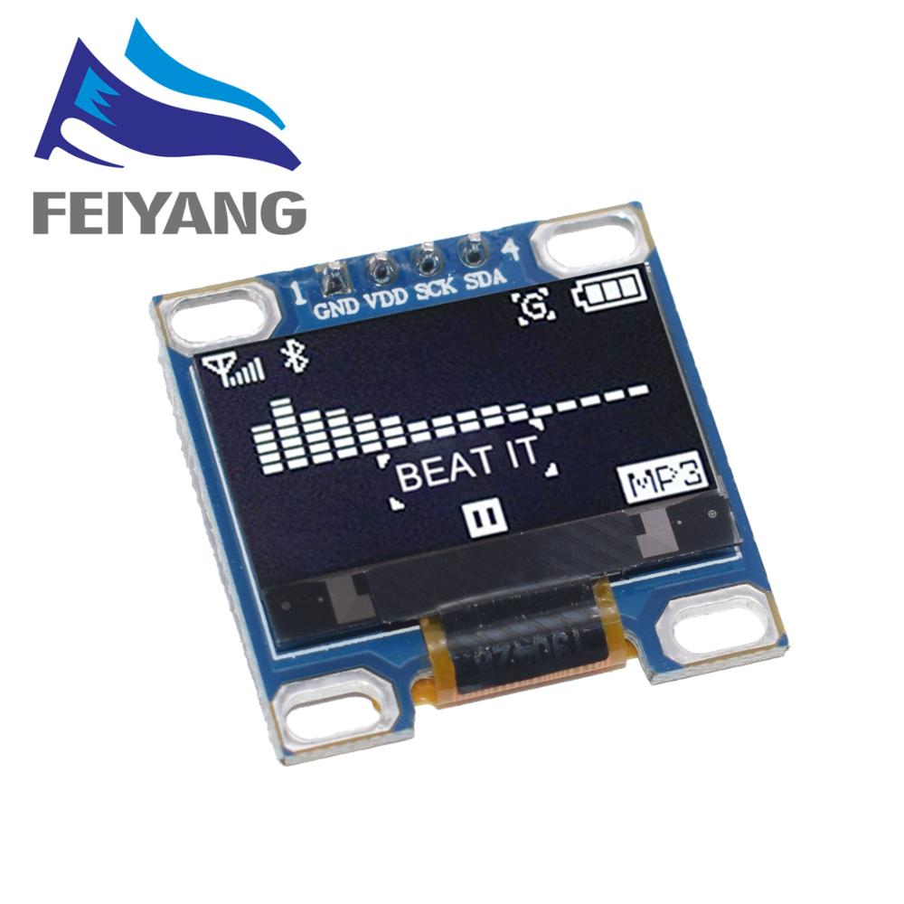 10PCS 0.96 Inch IIC Serial White OLED Display Module I2C SSD1315 LCD Screen Board 0.96