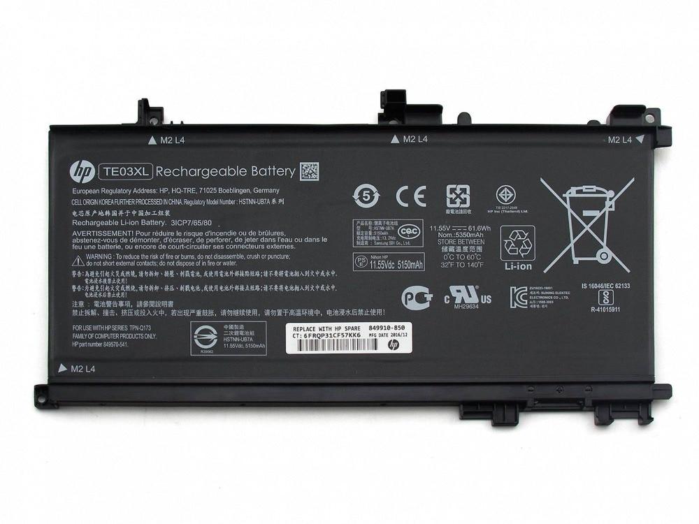 Original nuevo batería de ordenador portátil para HP pabellón 15-BC000 presagio 15-AX 15T-AX 15-ax000 15t-ax000 15t-ax200 serie TE03XL 11,55 V 61.6WH