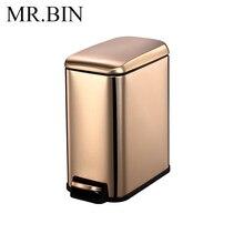 MR. Bin 5L CS Plus мусорное ведро со съемным внутренним ведром с ножками из нержавеющей стали Урна с педалью мини-мусорное ведро