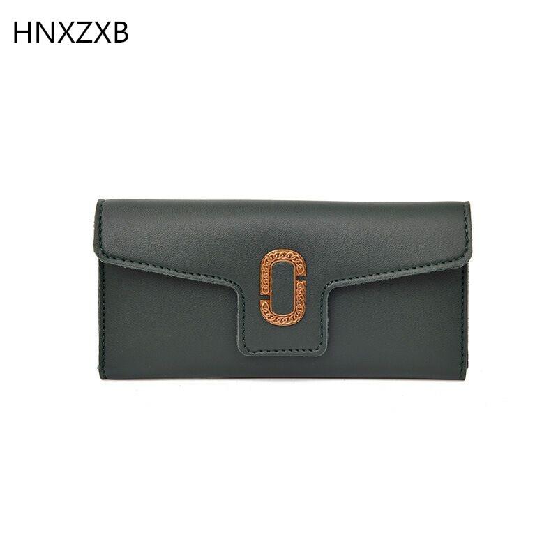 цена HNXZXB Women Red Pink Long Wallet Bag Female Coin Purse Single Zipper Clutch Bag Ladies Wallets Fashion Woman Purses Handbags онлайн в 2017 году