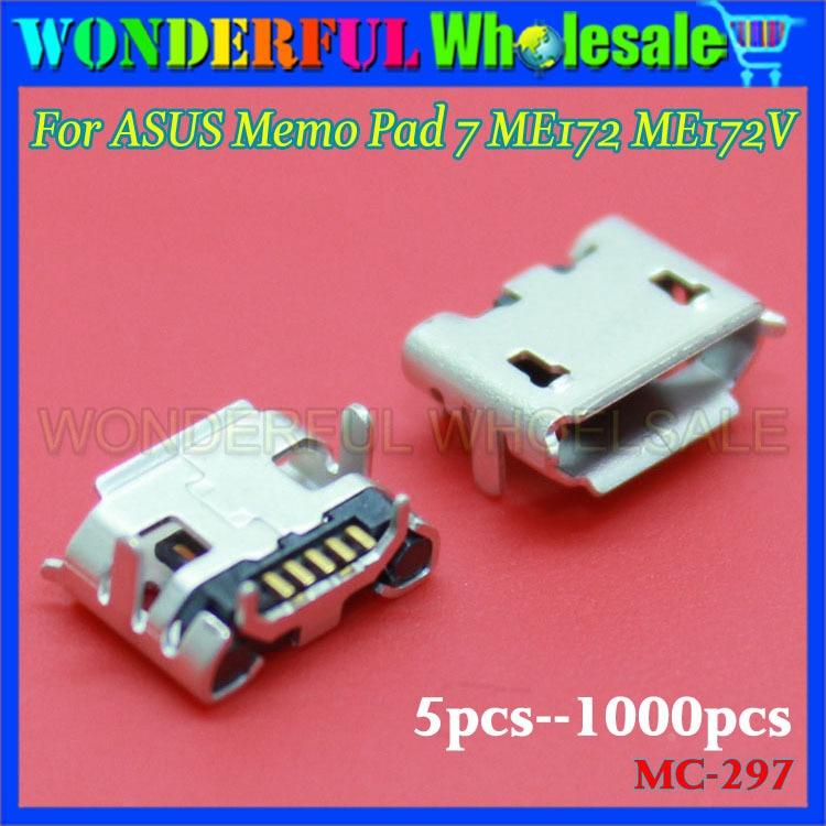 New For ASUS Memo Pad 7 ME172 ME172V Micro USB DC Charging Socket Port Connector usb charging port charge connector socket for xiaomi 1s 1 2a 2s mi2 mi3 4i mi4 mi5 4c 4s max pad redmi 1s 2a 3s note 2 3 4
