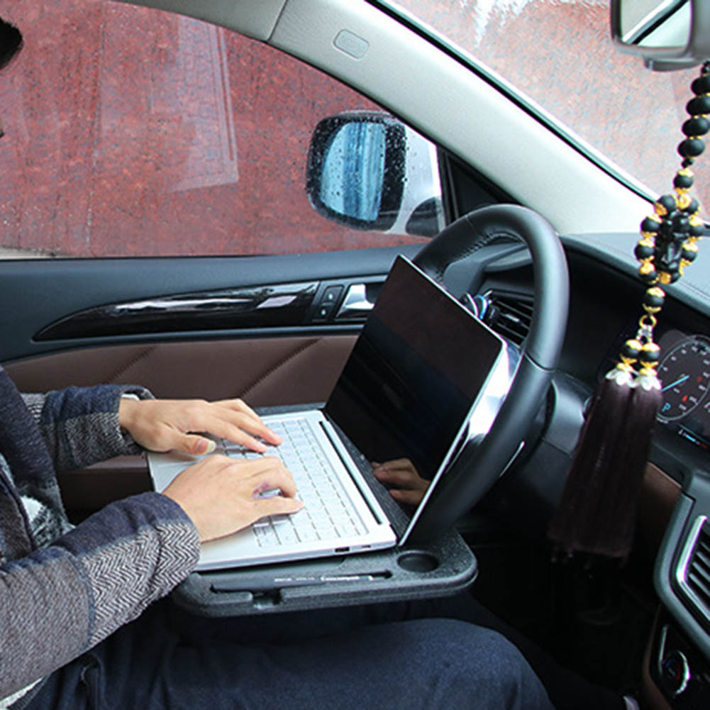 Portable Car Desk Laptop Computer Table Steering Wheel Eat Drink Work Holder Seat Tray Stand