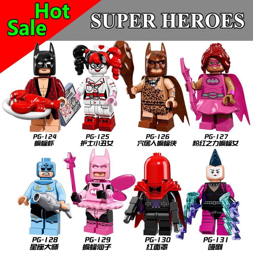 VeiLvem Single Super Heroes Harley Quinn Joker Legoing Batman Catwoman Robin Poison Ivy Calendar of People building  Blocks Toys batman arkham poison ivy