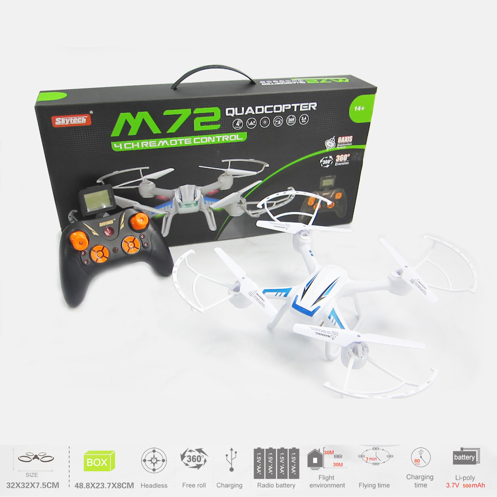 Skytech M72R 2.4Ghz 6-aix 0.5MP VGA Camera RC Quadcopter with Headless Mode 3D Flips Function RC Quadcopter Quad Copter RTF