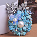 Individualidade pérola pedras de pingente de prata azul camisola vestido acessórios Bijoux