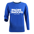 New 2017 Fashion Autmun Cotton Casual Long Sleeve T shirt Men Brand Famous Hip Hop Printed Imagine Dragons Rock Band T-shirts