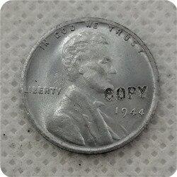 Копия 1944-P Lincoln пшеничный цент, Пенни (ошибки, сталь) копия монет