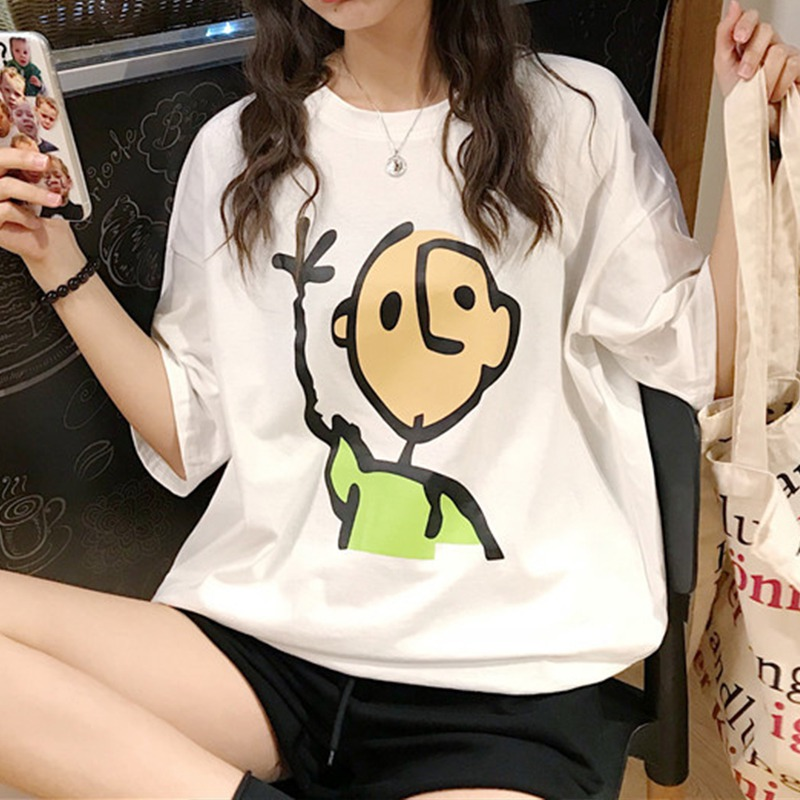 New Fashion T shirt Woman Spring Summer Print Short Sleeve O Neck Women Top Slim Fit Soft Women Tshirt in T Shirts from Women 39 s Clothing