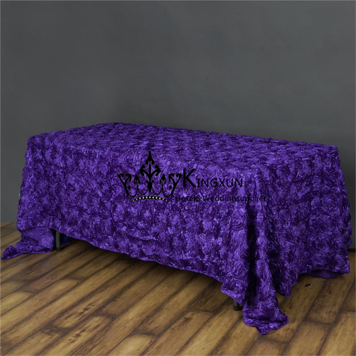 Purple Color Satin Rosette Table Cloth Rectangular Size In Tablecloths From  Home U0026 Garden On Aliexpress.com | Alibaba Group