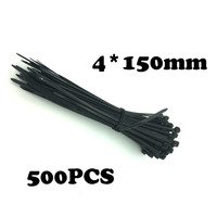 500 шт./упак. 4*150 мм обвязки группы Slipknot галстук провода аккуратные и сортировать цвета Самоконтрящиеся Нейлон кабель пластик Галстуки ремень