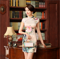 2016 winter chinese traditional clothing embroidery cheongsam mermaid wedding dresses short sleeve sequins long qipao red