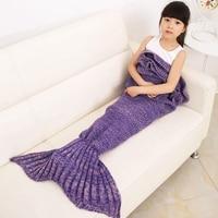 Sıcak Satış Mermaid Battaniye Büyüleyici Örme Battaniye Klima Kanepe Çocuklar Için Uyku Mermaid Kuyruk Yumuşak Denizkızı Battaniye