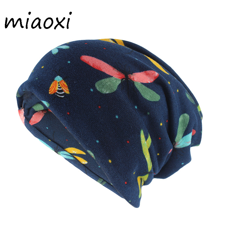 New Arrival Animal Color Adult Fashion Hat For Girls Autumn Spring Warm Beanies Hip Hop Cotton Head Cap Scarf Double Used Bone